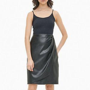 NWT Calvin Klein Faux Leather Skirt - size 6
